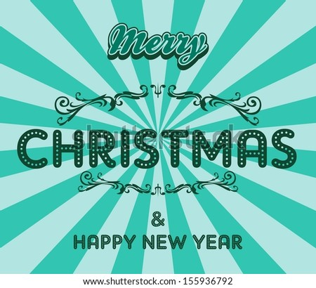 christmas art greeting - stock vector