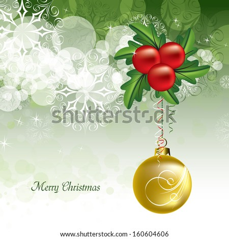 Christmas Background. Abstract Modern Design. - stock vector