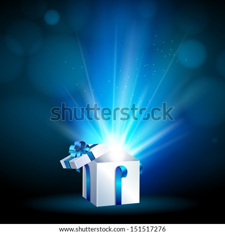 Christmas background and present - stock vector