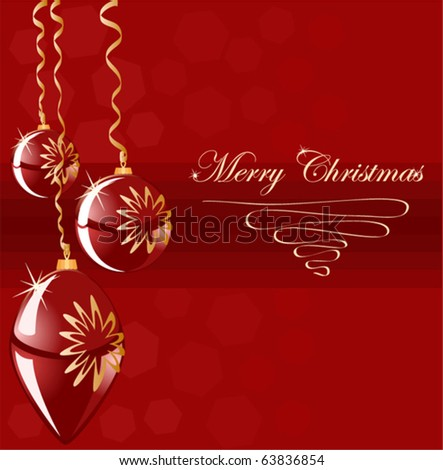 Christmas background blank with ball - stock vector