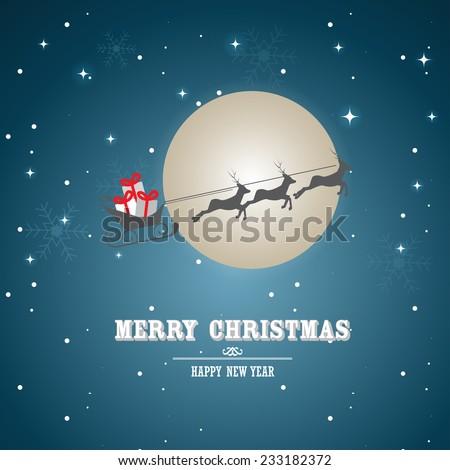 Christmas background, card, backdrop, vector - stock vector