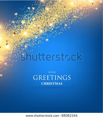 Christmas background. Christmas decoration on bright background - stock vector