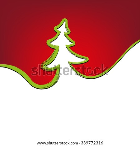 Christmas background christmas-tree strokes symbol drawn vector illustration   - stock vector