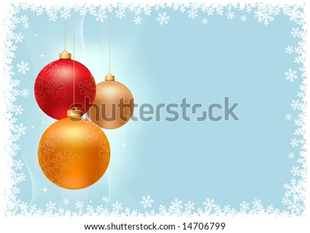 Christmas background collection.  All elements are layered separately.