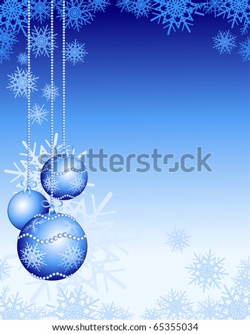 Christmas background customizable with decorations, vector