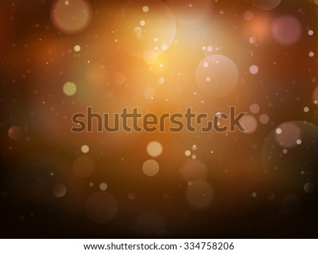 Christmas background. Festive abstract background with bokeh defocused lights. EPS 10 vector file included - stock vector