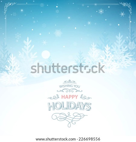 christmas background, file masked and layered  - stock vector
