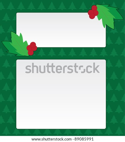 Christmas background/frame illustration with holly
