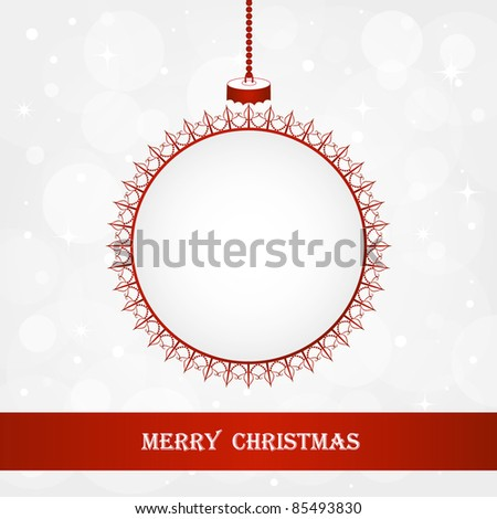 Christmas background. Frame in shape of a Christmas ball. Element for design. - stock vector