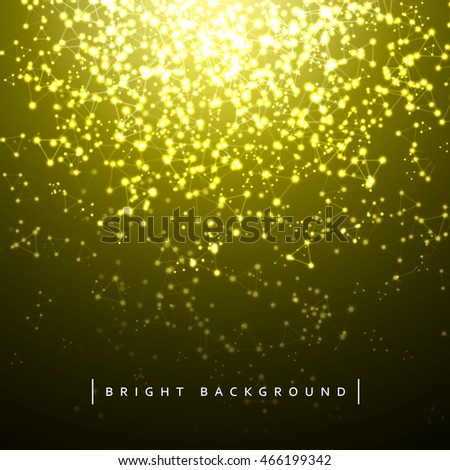 Christmas background holiday lights. Lighting effects. Winter, magic background for Christmas cards. Bright shining stars with geometric
