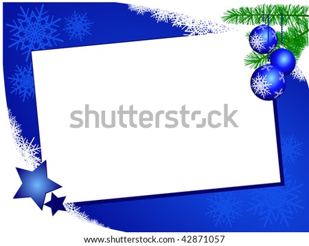 Christmas background in blue and white, vector