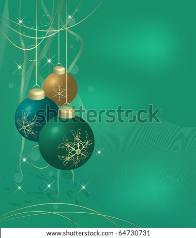 Christmas background in turquoise (eps10 vector)