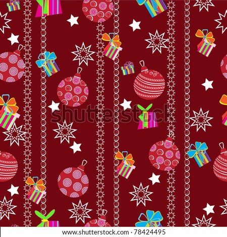 christmas background new year seamless pattern