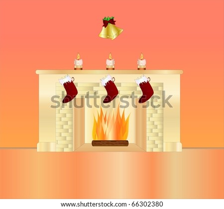 christmas ( background on separate layer ) - stock vector