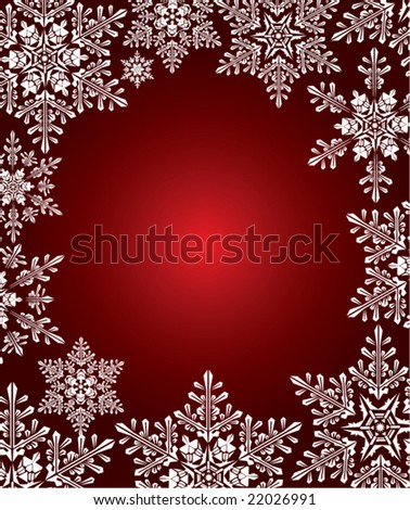 Christmas background snowflake vector - stock vector