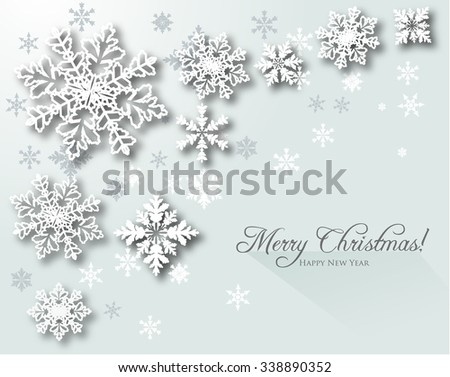 Christmas  Background,Snowflakes - stock vector