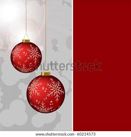 CHRISTMAS BACKGROUND. VECTOR.  CHRISTMAS BALL. - stock vector