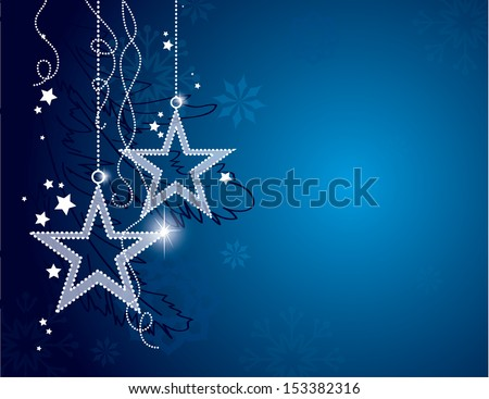 Christmas Background. Vector Eps10 Illustration. - stock vector
