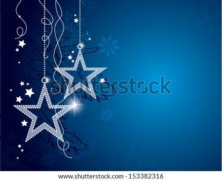 Christmas Background. Vector Eps10 Illustration. - stock vector