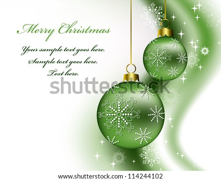 Christmas Background. Vector Illustration. - stock vector