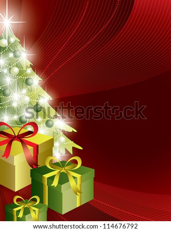 Christmas Background. Vector illustration.