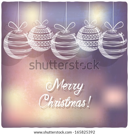 Christmas background - vector illustration - stock vector