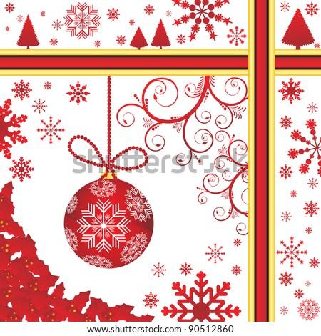 Christmas Background vector illustration - stock vector