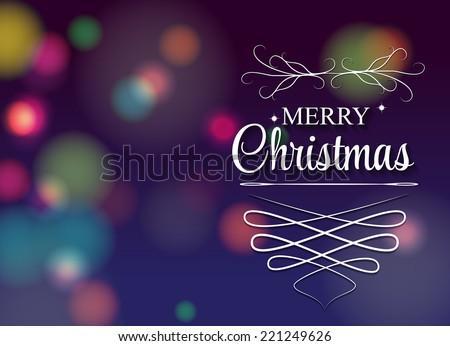Christmas Background. Vector Illustration. EPS10 - stock vector