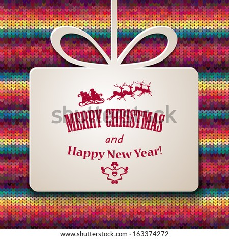 Christmas background. Vector Illustration. Happy new year - stock vector
