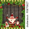 Christmas background vector image - stock photo