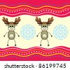 Christmas background with a deer. - stock vector