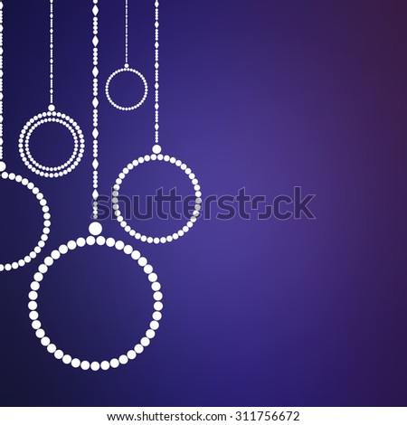 Christmas background with abstract Christmas balls. Vector eps 10 illustration. Xmas decorations. Simple New Year tree ornament. - stock vector