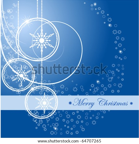 Christmas Background with ball. Vector Illustration. - stock vector