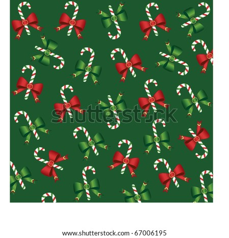 Christmas background with candy - stock vector