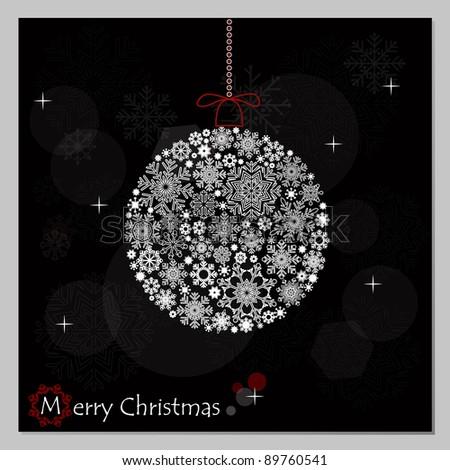Christmas background with Christmas ball. - stock vector