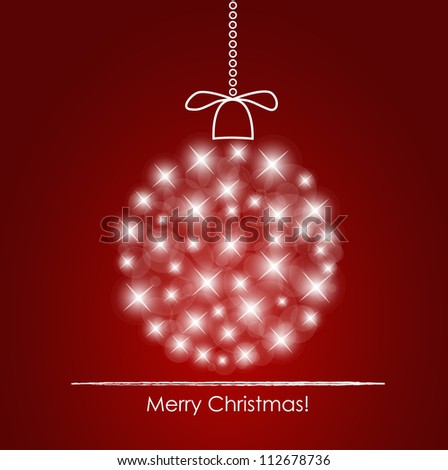 Christmas background with christmas ball illustration. - stock vector