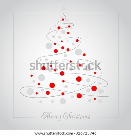 Christmas background with Christmas tree. EPS 10. Contains transparent objects.