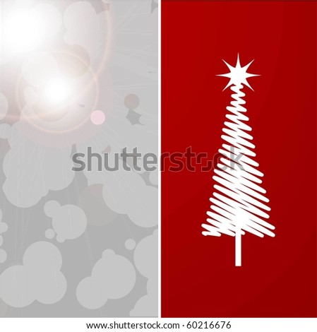 CHRISTMAS BACKGROUND WITH CHRISTMAS TREE.  VECTOR - stock vector
