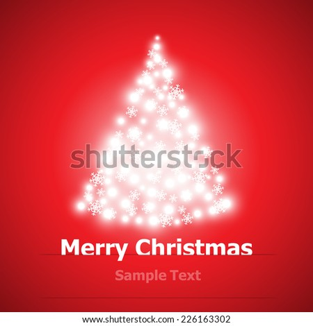 Christmas background with Christmas tree vector illustration
