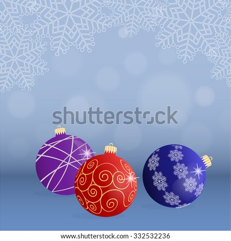 Christmas background with colorful balls. Vector illustration.
