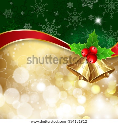 """Christmas background with decor and handwritten text """"Merry Christmas"""". Vector illustration for Christmas posters, icons, Christmas greeting cards, Christmas print and web projects. - stock vector"""