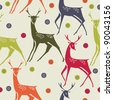 Christmas background with deers - stock