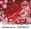 Christmas background with filigree balls - stock photo