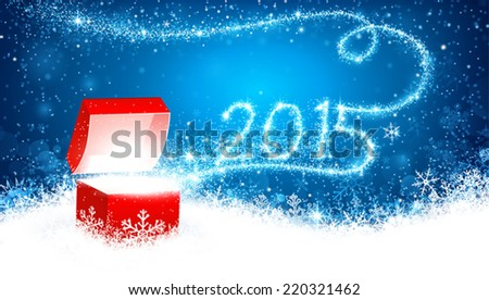 Christmas background with gift  - stock vector