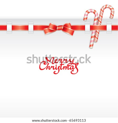Christmas background with greeting inscription - stock vector