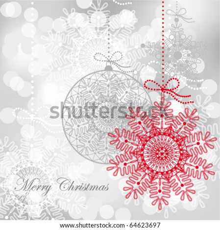 Christmas background with holiday decorations, EPS 10 - stock vector