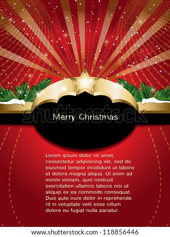 christmas background with label  (also available jpg version)