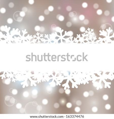 Christmas background with lights elements - stock vector