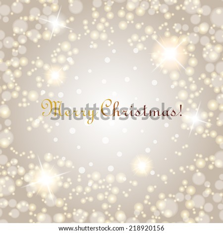 Christmas background with lights. Vector image eps10 - stock vector