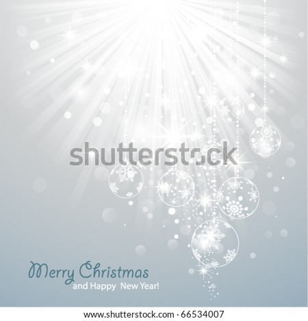 Christmas Background with luminous rays. - stock vector